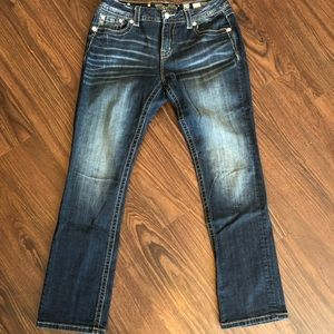 Mid-rise easy straight Jeans